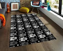 Large Kids Rug Kids Rug Star Wars Rug R2d2 Rug Carpet Modern Rug