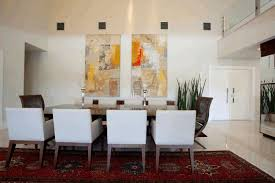 dining room wallpaper distressed white dining table grey and white