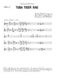 tuba tiger rag horn in f sheet at stanton s sheet