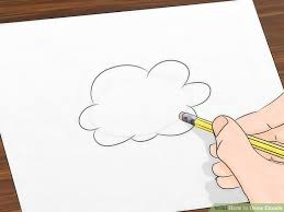 draw clouds 11 steps pictures wikihow