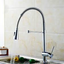 Kitchen Faucet With Pull Out Spray Modern Style Chrome Finished Brass Kitchen Faucet Pull