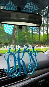personalized rear view mirror charms personalized monogram rear view mirror hanger crafty belles