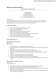 Resume For Artist Makeup Artist Resume Sample Resume Examples Pinterest Resume