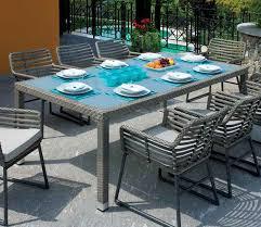 tavoli da giardino rattan tavolo da giardino carol in rattan sintetico cm 210x110x77h
