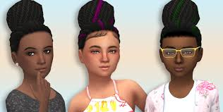 sims 3 african american hairstyles the sims 4 simsimmajay garnet sim s cookie hairstyle for female