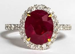ruby diamond ring certified five carat pigeon s blood burma ruby and
