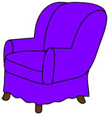 Purple Armchair Arm Chair Clipart Image Clip Art Illustration Of A Purple Arm Chair