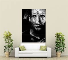 Wall Murals Amazon by Amazon Com Michael Myers Giant Wall Art Print Poster St211