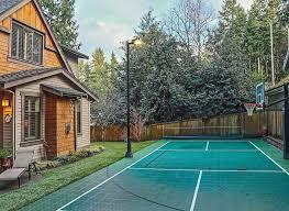 Building A Backyard Basketball Court 34 Spectacular Backyard Sports Court Ideas