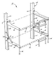 Patent US Folding Bunk Bed Google Patents - Folding bunk beds