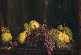 all things bright and beautiful hans heysen pears and grapes