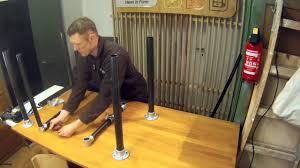 tutorial verstellbarer stehtisch eigenbau diy standing desk