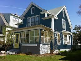 blue exterior house paint