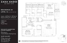 nyc floor plans corcoran 520 west 28th 520 west 28th street chelsea hudson