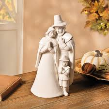 thanksgiving pilgrim and american indian figurines