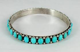 bracelet silver turquoise images Authentic native american turquoise bangle bracelet by henry sam jpg