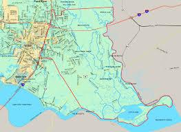 Louisiana On Map by St Tammany Parish Board