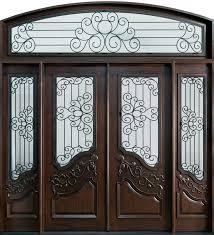 furniture fabulous brown wooden large sliding modern front door