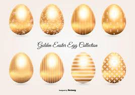 gold easter eggs golden easter egg collection free vector stock