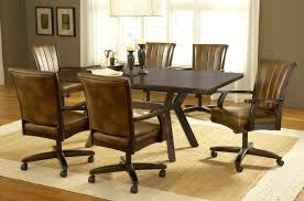 chair dining room rolling dining chairs chairs with casters dining room sets