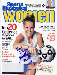 Women Magazine Heather Mitts Autographed 1999 Sports Illustrated For Women