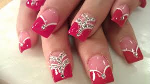 how to lady in red acrylic nails youtube