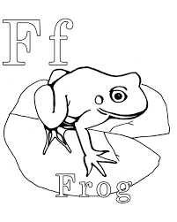 frog free alphabet coloring pages alphabet coloring pages of