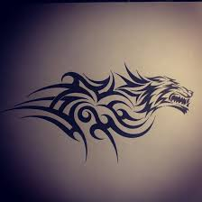 wolf tribal by dirtfinger