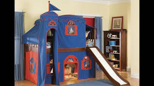 kids loft bed with slide youtube