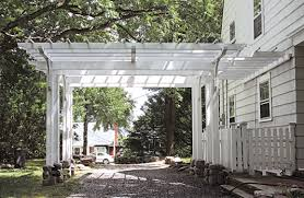 Attached Pergola Plans by Driveway Pergola This Garden Structure Functions As Both An Open