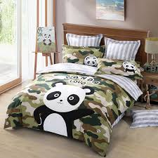 olive and dark green camouflage with black and white panda shabby