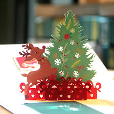 3d pop up cards merry christmas origami paper laser cut postcards