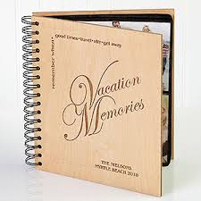 travel photo album 4x6 personalized engraved vacation photo album