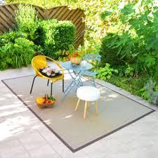 tapis extérieur pvc tressé beige 200 x 290 cm terrasse resto