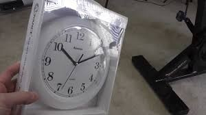 geneva clock co 8001 advance wall clock white unboxing youtube