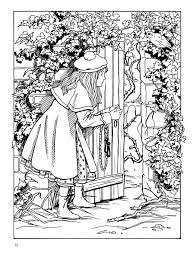 secret garden coloring pages coloring
