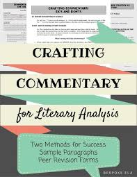how to write a literary criticism paper teaching students how to write commentary for the literary commentary pic 1 jpg