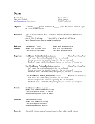 Chronological Sample Resume by Chronological Resume Template Word Free Resume Example And