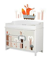 south shore cotton candy changing table with drawers soft gray amazon com south shore cotton candy changing table with fox in the