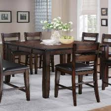 Drop Leaf Bar Table Dining Room Magnificent 7 Piece Counter Height Dining Set With
