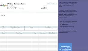 simple welding invoice template