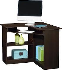 office deskhome corner desk square rectangular log brown varnished