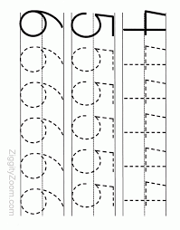 number tracing worksheet numbers 4 to 6 tracing worksheets