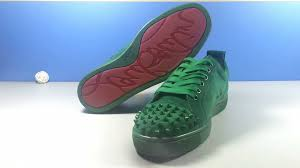 christian louboutin freddy spikes kid leather mens flat shoes