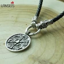 aliexpress men necklace images 1pcs thunder shield of perun slavic axes gothic retro pagan jpg