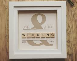 wedding gift photo frame personalised box frame ideas search scrabble