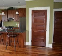 wood door trim craftsman style custom interior pai photo of