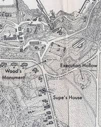 West Point Map Movable Monuments Part 1 Wood U0027s Monument U2014 Execution Hollow