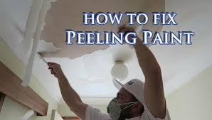 bathroom paint peeling off walls fix flaking paint on plasterboard ceiling youtube