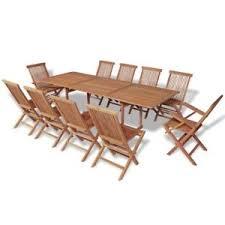 vidaxl 11 piece outdoor dining set garden patio table and folding